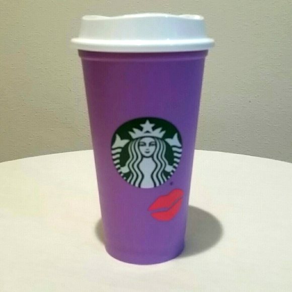 Starbucks Lilac Color Changing Lips Plastic Cup